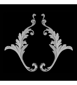 OL-158 Series Left and Right Acanthus Leaf Swag Resin Onlay
