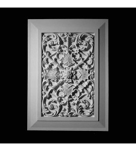 PANL-2-102 Series Victorian Open Back Resin Panel Insert with Traditional Frame