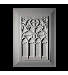 PANL-2-150 Series Gothic Resin Panel Insert with Traditional Frame