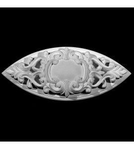 ROST-281 Oval Shield and Scroll with Backing Resin Rosette