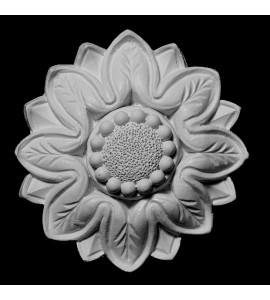 ROST-100 Series Scalloped Flower Resin Rosette
