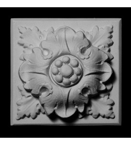 ROST-136 Flower on Square Backing Resin Rosette