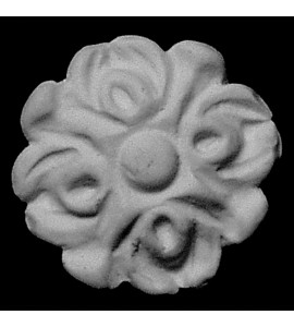 ROST-150 Round Florette Resin Rosette Sold In Packs Of 10