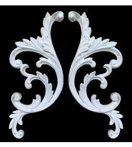 SCR-410 Series Acanthus leaf Resin Scroll