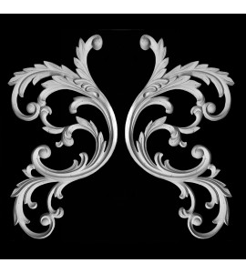 SCR-410C Acanthus leaf Resin Scroll