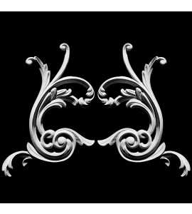 SCR-411 Series Acanthus leaf Resin Scroll