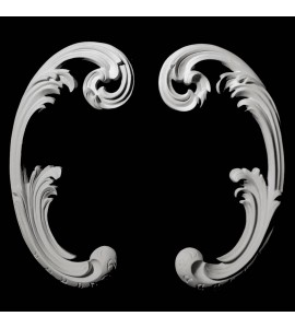 SCR-101 Series Leaf Resin Scroll Pair