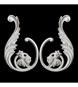SW-104-EXT Series Acanthus Leaf Floral Resin Swag  Pair with Extension