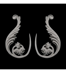 SW-104 Series Acanthus Leaf Floral Resin Swag Pair