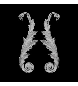 SW-116 Series Acanthus Leaf Resin Swag Pair