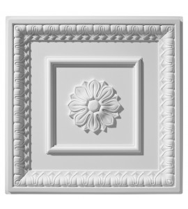 English Lamb's Tongue Center Rosette Ceiling Tile 2' x 2' AV-0069-TL