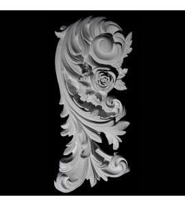 VS-54L Left Acanthus Leaf with Flower Versailles Resin Collection