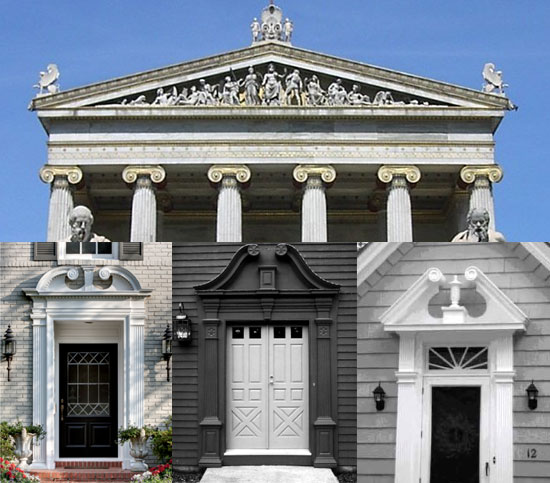 The Term Pediment Is Often Used To Reference Small Gables And Triangular  Decorations Over Niches, Doors And Windows.